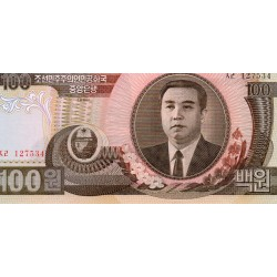 NORTH KOREA - PICK 43 - 100 WON 1992