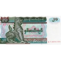 MYANMAR - PICK 72 - 20 KYATS - 1994 - NEUF