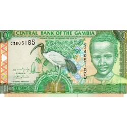 GAMBIA - PICK 21 a - 10 DALASIS - NON DATE - 2001-05 - Sign 13