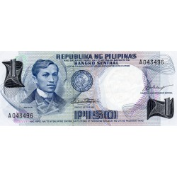 PHILIPPINES - PICK 142 a - 1 PISO 1969