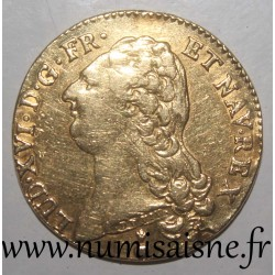 FRANCE - Gad 363 - LOUIS XVI - DOUBLE GOLDEN LOUIS WITH NAKED HEAD - 1786 AA - Metz