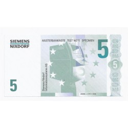 SIEMENS NIXDORF - 5 EUROS - SPECIMEN - NEUF