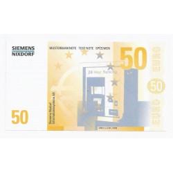SIEMENS NIXDORF - 50 EUROS - SPECIMEN - NEUF