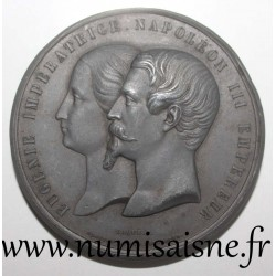 MEDAL - NAPOLEON III AND EUGENIA - INDUSTRY PALACE - 1855