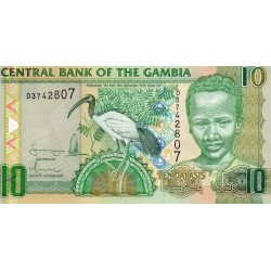GAMBIA - PICK 26 - 10 DALASIS - NON DATE - 2006-2013