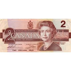 CANADA - PICK 94 b - 2 DOLLARS 1986