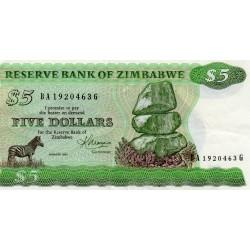 ZIMBABWE - PICK 2 c - 5 DOLLARS - 1983