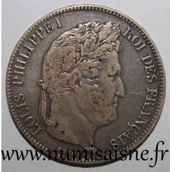 FRANCE - KM 749 - 5 FRANCS 1834 K - Bordeaux - LOUIS PHILIPPE 1st