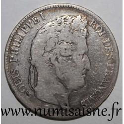FRANCE - KM 749 - 5 FRANCS 1833 A - Paris - LOUIS PHILIPPE 1