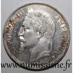 FRANCE - KM 799 - 5 FRANCS 1868 BB - Strasbourg - TYPE NAPOLEON III