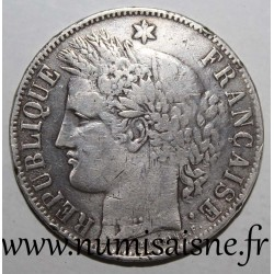 FRANCE - KM 818 - 5 FRANCS 1870 K - Bordeaux - CERES - M at 2h