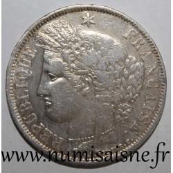 FRANCE - KM 818 - 5 FRANCS 1870 K - Bordeaux - TYPE CERES - anchor