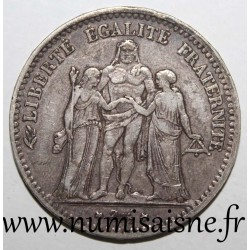 FRANCE - KM 820 - 5 FRANCS 1876 K - Bordeaux - TYP HERCULE
