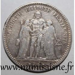 FRANCE - KM 820 - 5 FRANCS 1877 K - Bordeaux - TYPE HERCULE