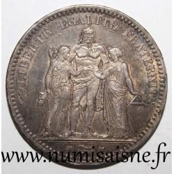 FRANCE - KM 820 - 5 FRANCS 1873 A - Paris - TYPE HERCULE