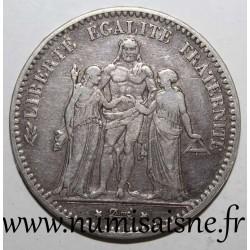 FRANCE - KM 820 - 5 FRANCS 1875 K - Bordeaux - TYPE HERCULE