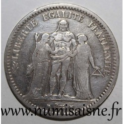 FRANCE - KM 756 - 5 FRANCS 1848 K - Bordeaux - TYPE HERCULE
