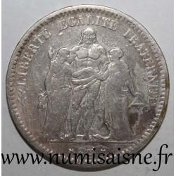 FRANCE - KM 756 - 5 FRANCS 1849 K - Bordeaux - TYPE HERCULE