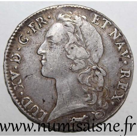 FRANCE - Gad 322 - LOUIS XV - ECU WITH HEADBAND 1767 R - Orléan - KM 512