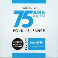 FRANCE - 2 EURO 2021 - UNICEF'S 75TH ANNIVERSARY