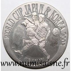 GIBRALTAR - KM 981 - 1 CROWN 2002 - FOOTBALL WORLD CUP - JAPAN AND KOREA
