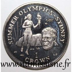 GIBRALTAR - KM 795 - 1 CROWN 1999 - OLYMPIC GAMES - SYDNEY