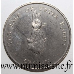 GIBRALTAR - KM 525 - 1 CROWN 1997 - THE TALE OF PETER RABBIT