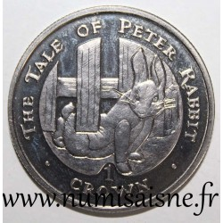 GIBRALTAR - KM 382 - 1 CROWN 1996 - THE TALE OF PETER RABBIT
