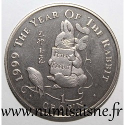 GIBRALTAR - KM 783 - 1 CROWN 1999 - YEAR OF THE RABBIT - THE TALE OF PETER RABBIT