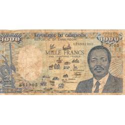CAMEROUN - PICK 26 a - 1000 FRANCS - 01/01/1987 - ELEPHANT