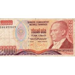 TURKEY - PICK 202 - 20 000 LIRA - L 1970 (1995)