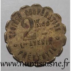 FRANCE - County 62 - FREVENT - 2 KILOS - COOPERATIVE DE L'AVENIR