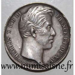ATTENDANCE TOKEN - AGRICULTURE, ARTS & A DES LANDES SOCIETY - CHARLES X