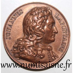 MEDAL - JEAN DE LA FONTAINE - 1621 - 1695 - 200th BIRTHDAY - 1821