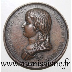 MEDAL - LOUIS XVII During the execution by guillotine of his father LOUIS XVI on January 21, 1793 - By Tiolier