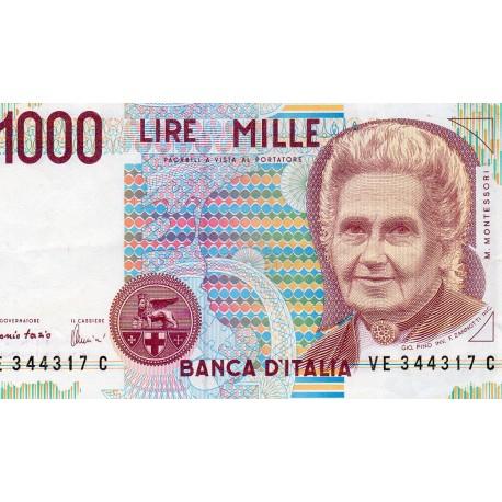ITALY - PICK 114 c - 1 000 LIRE - 03/10/1990
