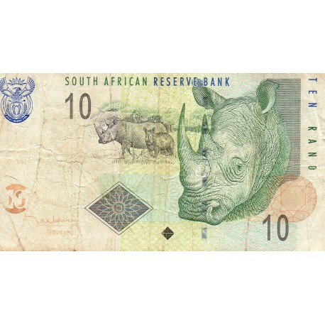 SOUTH AFRICA - PICK 123 a - 10 RAND - ND 1993 - RHINOCEROS