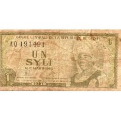GUINEA - PICK 20 a - 1 SYLI - 1981