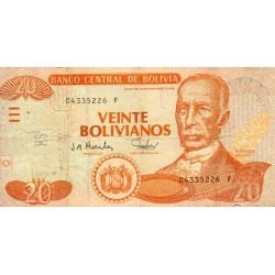 BOLIVIA - PICK 224 - 20 BOLIVIANOS - L.1986 (2001)