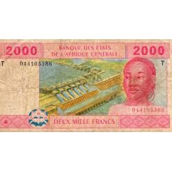 ÉTATS DE L'AFRIQUE CENTRALE - CONGO - PICK 108 T a - 2000 FRANCS 2002