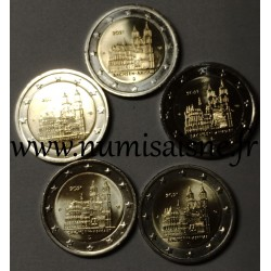 GERMANY - 2 EURO 2021 - 5 Mint mark A D F G J - MAGDEBOURG CATHEDRAL