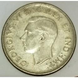 CANADA - KM 35 - 25 CENTS 1945 - GEORGES VI - CARIBOU