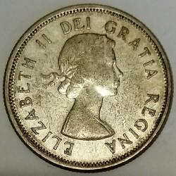 CANADA - KM 52 - 25 CENTS 1961 - ELISABETH II - CARIBOU