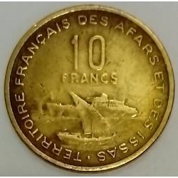 AFARS AND ISSAS - DJIBOUTI - KM 17 - 10 FRANCS 1970 - Boats