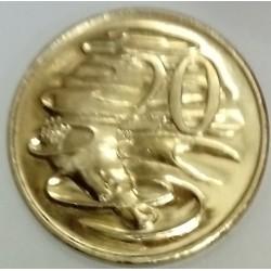 AUSTRALIA - KM 82 - 20 CENTS 1998