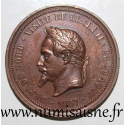 MEDAL - NAPOLEON III - VISIT TO LILLE 26 - 29 AUGUST 1867 - By Chaplain