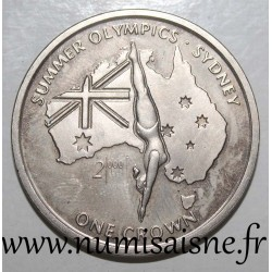 ISLE OF MAN - KM 924 - 1 CROWN 1999 - OLYMPIC GAMES - SYDNEY - Diver