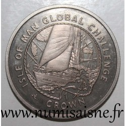 ISLE OF MAN - KM 1035 - 1 CROWN 2000 - GLOBAL CHALLENGE