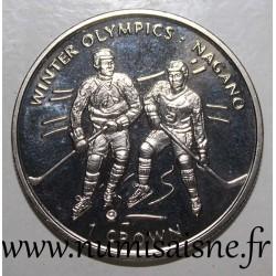 ISLE OF MAN - KM 851 - 1 CROWN 1998 - OLYMPIC GAMES - NAGANO - Ice hockey