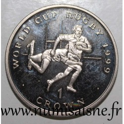 ISLE OF MAN - KM 940 - 1 CROWN 1999 - RUGBY WORLD CUP